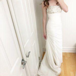 Stunning Draped Ruched Trumpet Wedding Dress 6/8